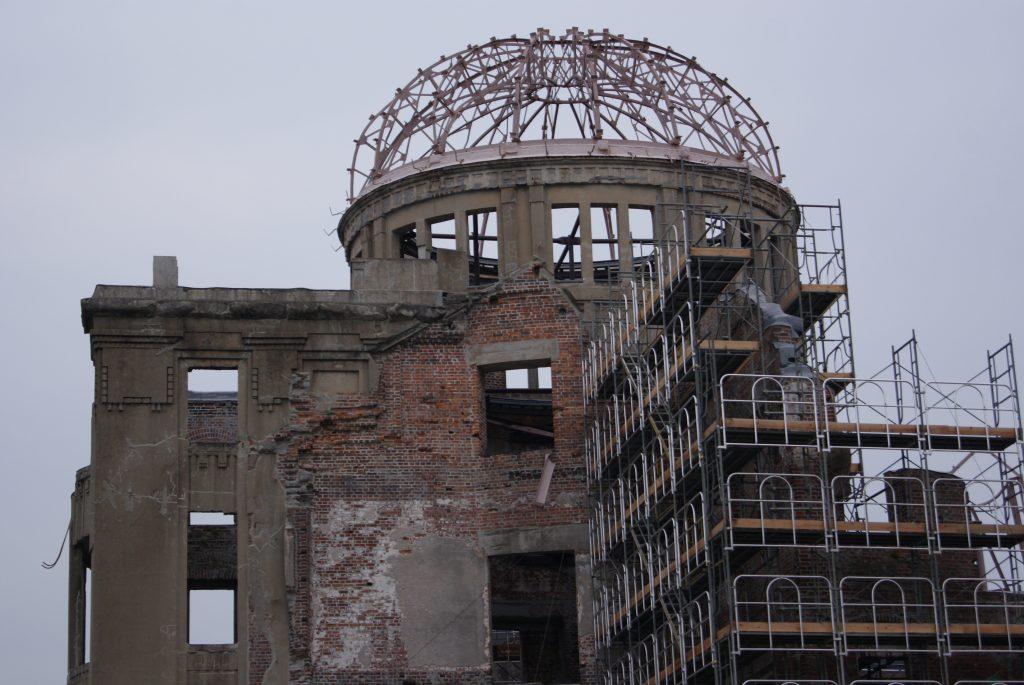 La cúpula es parte del único edificio que actualmente queda en pie después del desastre