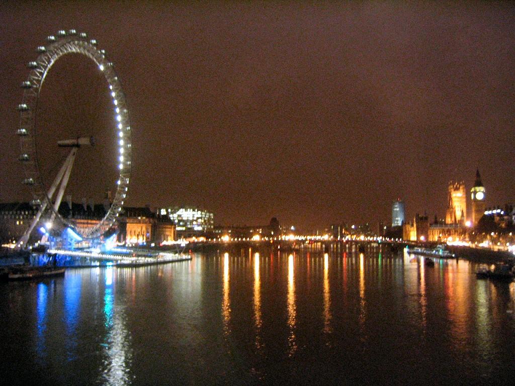 Westminster puente de noche